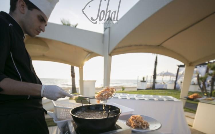 show cooking sulla spiaggia