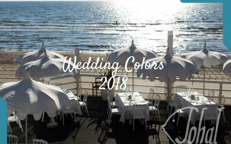 wedding colors 2018