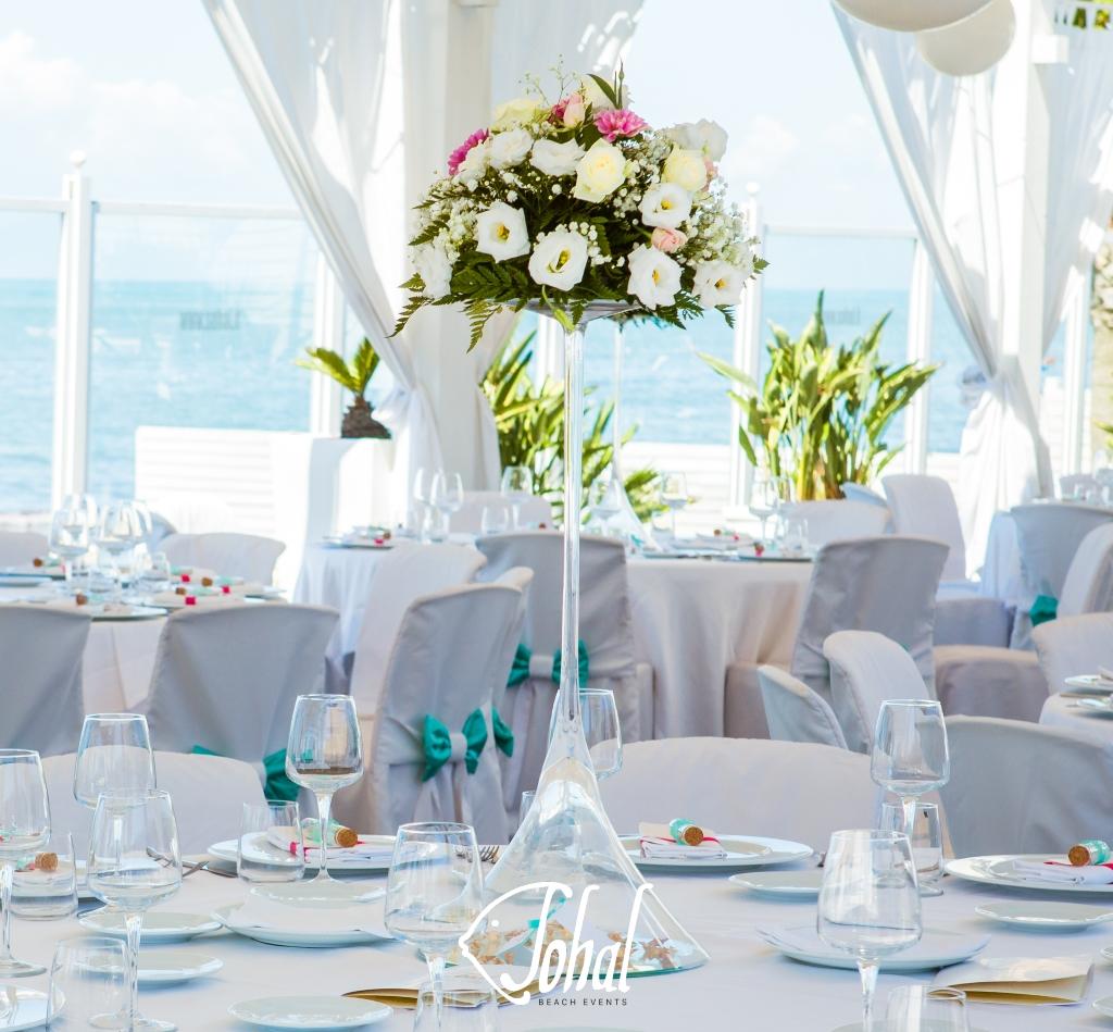 291632150370 Centrotavola alto per matrimoni in spiaggia 2018 - Sohal