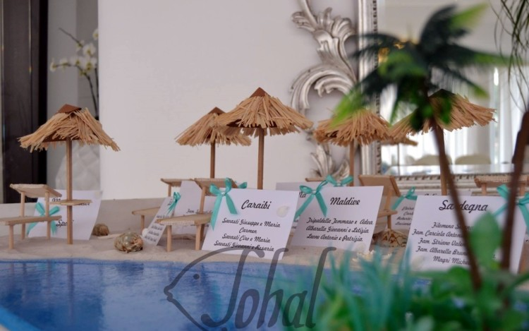 tableau de mariage spiagge tropicali