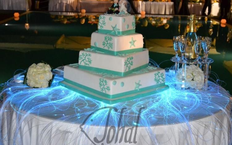 torta nuziale tema marino