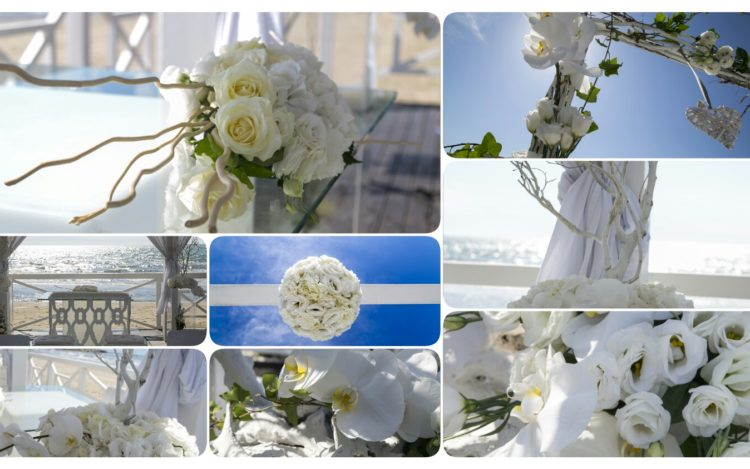 fiori al matrimonio in spiaggia