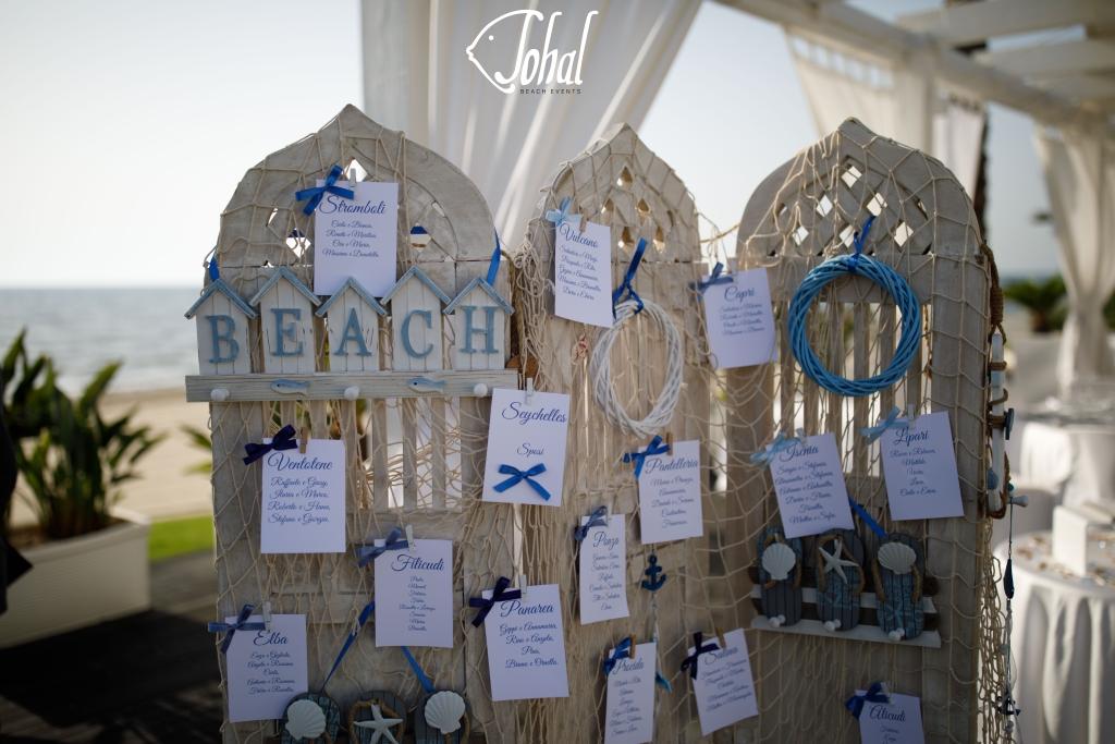 Tableau Matrimonio Spiaggia : Tableau de mariage a tema marino per interpretare un